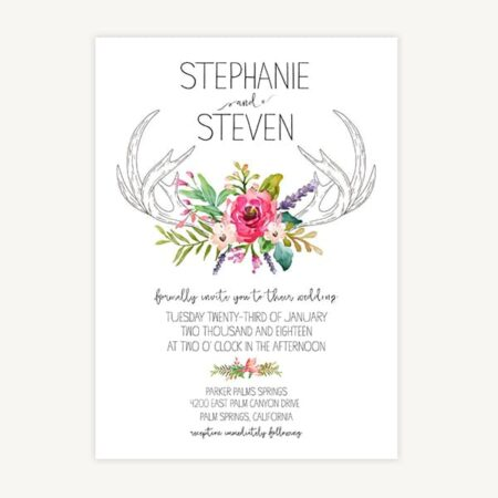 Wedding Invitation Template C4